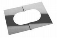 Afwerkingsplaat: regelbare afwerkingsplaat, diameter 130 mm  FU /p.stuk